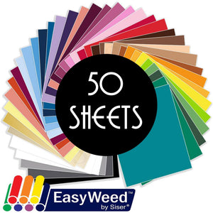 "Siser Easyweed Heat Transfer Vinyl (HTV) - 50 Sheets - Build a Bundle, 12"" x 15"" - Swing Design"