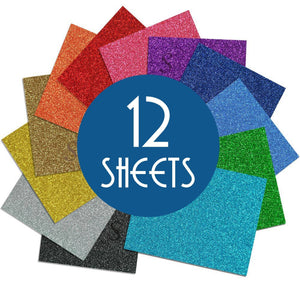 "Siser Glitter Heat Transfer Vinyl (HTV) - 12 Sheets - Build a Bundle, 20"" x 12"" - Swing Design"