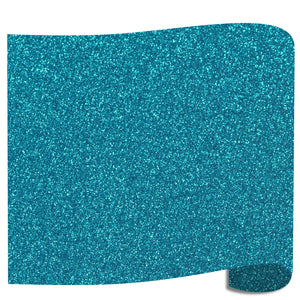 "Siser Glitter Heat Transfer Vinyl (HTV) 20"" x 12"" Sheet - 45 Colors Siser Heat Transfer Siser Aqua"