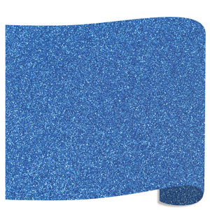 "Siser Glitter Heat Transfer Vinyl (HTV) 20"" x 12"" Sheet - 45 Colors Siser Heat Transfer Siser Blue"