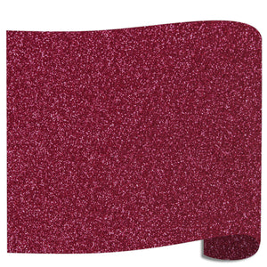 "Siser Glitter Heat Transfer Vinyl (HTV) 20"" x 12"" Sheet - 45 Colors Siser Heat Transfer Siser Burgundy"
