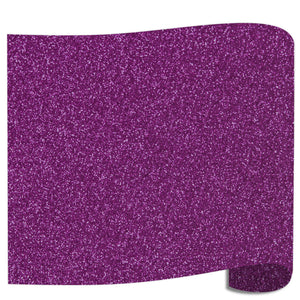 "Siser Glitter Heat Transfer Vinyl (HTV) 20"" x 12"" Sheet - 45 Colors Siser Heat Transfer Siser Eggplant"