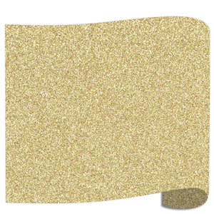 "Siser Glitter Heat Transfer Vinyl (HTV) 20"" x 12"" Sheet - 45 Colors Siser Heat Transfer Siser Gold Confetti"