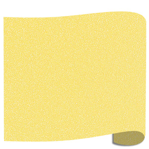 "Siser Glitter Heat Transfer Vinyl (HTV) 20"" x 12"" Sheet - 45 Colors Siser Heat Transfer Siser Lemon Sugar"