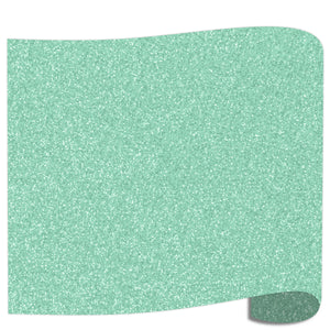 "Siser Glitter Heat Transfer Vinyl (HTV) 20"" x 12"" Sheet - 45 Colors Siser Heat Transfer Siser Mint"