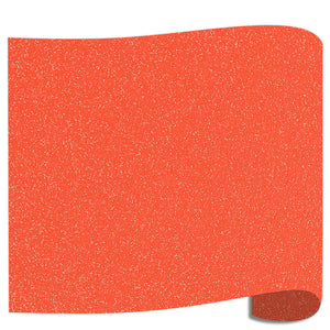 "Siser Glitter Heat Transfer Vinyl (HTV) 20"" x 12"" Sheet - 45 Colors Siser Heat Transfer Siser Neon Grapefruit"