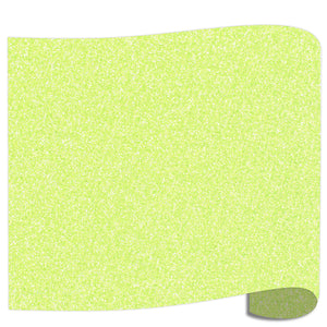 "Siser Glitter Heat Transfer Vinyl (HTV) 20"" x 12"" Sheet - 45 Colors Siser Heat Transfer Siser Neon Green"