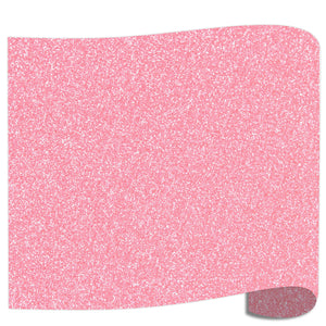 "Siser Glitter Heat Transfer Vinyl (HTV) 20"" x 12"" Sheet - 45 Colors Siser Heat Transfer Siser Neon Pink"