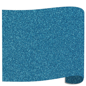 "Siser Glitter Heat Transfer Vinyl (HTV) 20"" x 12"" Sheet - 45 Colors Siser Heat Transfer Siser Old Blue"