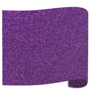 "Siser Glitter Heat Transfer Vinyl (HTV) 20"" x 12"" Sheet - 45 Colors Siser Heat Transfer Siser Purple"