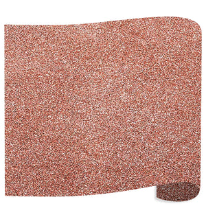 "Siser Glitter Heat Transfer Vinyl (HTV) 20"" x 12"" Sheet - 45 Colors Siser Heat Transfer Siser Rose Gold"