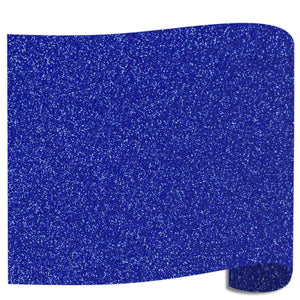 "Siser Glitter Heat Transfer Vinyl (HTV) 20"" x 12"" Sheet - 45 Colors Siser Heat Transfer Siser Royal"