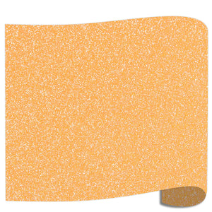 "Siser Glitter Heat Transfer Vinyl (HTV) 20"" x 12"" Sheet - 45 Colors Siser Heat Transfer Siser Translucent Orange"