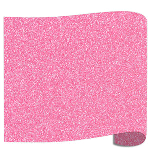 "Siser Glitter Heat Transfer Vinyl (HTV) 20"" x 12"" Sheet - 45 Colors Siser Heat Transfer Siser Translucent Pink"