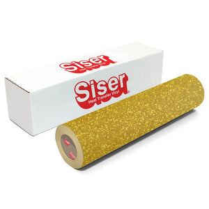 Siser Glitter Heat Transfer Vinyl (HTV) - Gold - Swing Design
