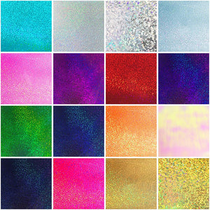 "Siser Holographic Heat Transfer Vinyl (HTV) - 15"" x 150 ft - 16 Colors Available - Swing Design"