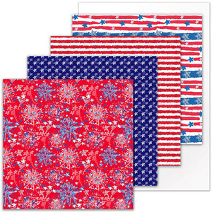 Siser Patterned Heat Transfer Vinyl (HTV) - 4th of July Bundle - Swing Design