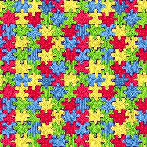 "Siser Patterned Heat Transfer Vinyl (HTV) - ""Autism Awareness"" - Swing Design"