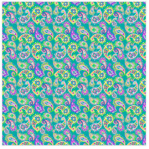 "Siser Patterned Heat Transfer Vinyl (HTV) - ""Paisley Fiesta Green"" - Swing Design"