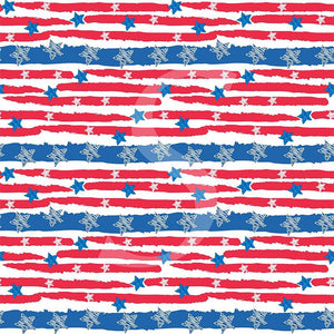 "Siser Patterned Heat Transfer Vinyl (HTV) - ""Stars and Stripes"" - Swing Design"