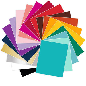 "Siser Stretch Heat Transfer Vinyl (HTV) - 25 Sheets - Build a Bundle, 12"" x 15"" - Swing Design"