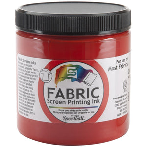 Speedball 8 oz Fabric Screen Printing Ink - Red - Swing Design