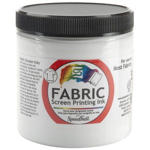 Speedball 8 oz Fabric Screen Printing Ink - White - Swing Design