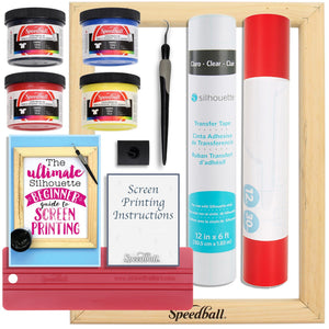 Speedball Starter Screen Printing Bundle - Use with Your Silhouette Cameo Machine - Swing Design