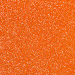 StyleTech Glitter Transparent Glossy Vinyl - Orange - Swing Design