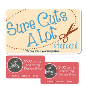 Sure Cuts A Lot Software Instant Code - Version 5 + $200 to So Fontsy - Swing Design