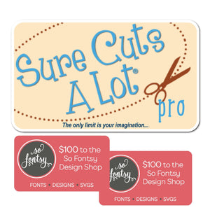 Sure Cuts A Lot Software Instant Code - Version 5 PRO + $200 to So Fontsy - Swing Design