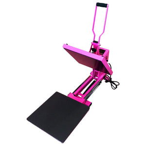 "Swing Design 15"" x 15"" PRO Slide Out Heat Press - Pink Heat Press Swing Design"