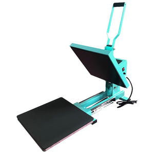 "Swing Design 15"" x 15"" PRO Slide Out Heat Press - Turquoise Heat Press Swing Design"