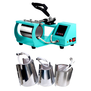 Swing Design 4-in-1 Mug, Cup, & Bottle Heat Press - Turquoise Heat Press Swing Design