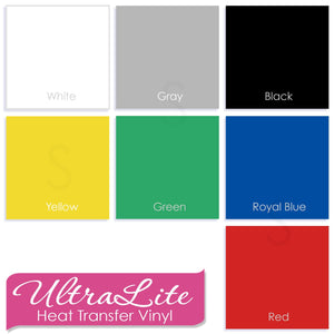 "UltraLite Heat Transfer Vinyl (HTV) by Siser - Thinner Than Easyweed - 15"" x 12"" Sheet - Swing Design"