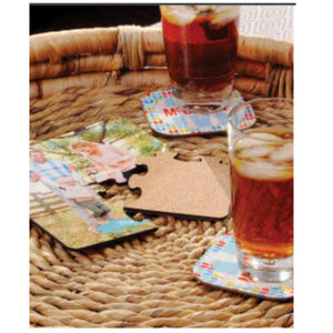 "Unisub Sublimation Square Coaster Blanks - 4 Pack 4"" x 4"" - 1009 - Swing Design"