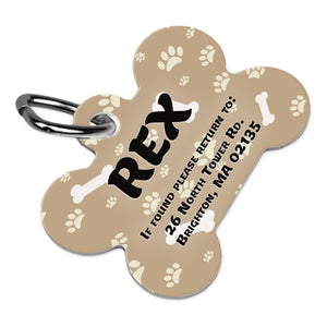 "Unisub Sublimation Bone Pet Tag Blank 1.5"" x 1"" - 4738 Sublimation Unisub"