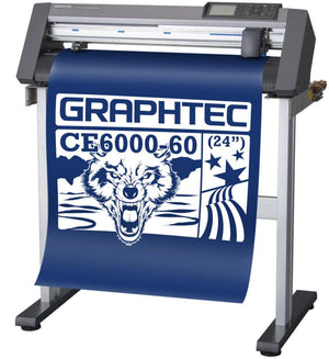 "USED Graphtec CE6000-60 PLUS - 24"" Professional Vinyl Cutter & Plotter with BONUS Software - Swing Design"