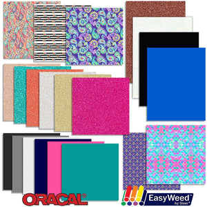 Vinyl and Heat Transfer Starter Pack - 21 Sheets Oracal Vinyl Oracal