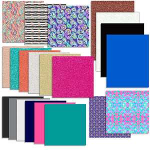 Vinyl & Heat Transfer Starter Pack - 21 Sheets - Swing Design