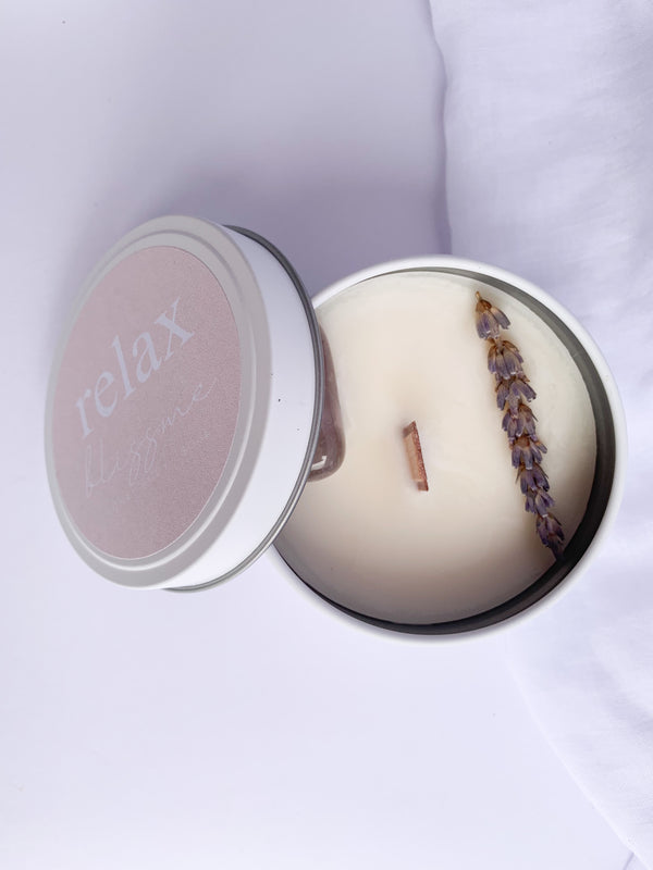 Bliss Me Candle - Relax - Amethyst, Amber & Lavender