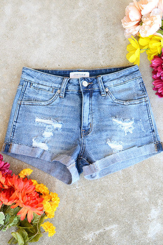 Just USA High Rise Cuffed Shorts