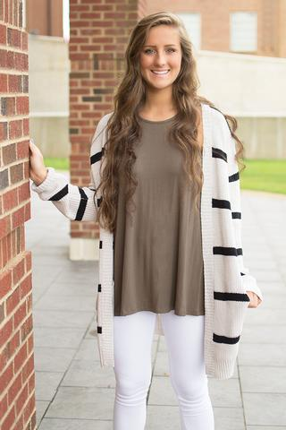 Augustana Striped Cardigan by BB Dakota