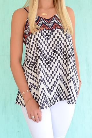 Black and White Printed Tank