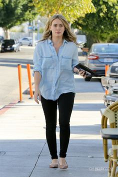 Hilary Duff in Chambray