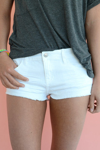 Just USA Daisy Duke Shorts - White