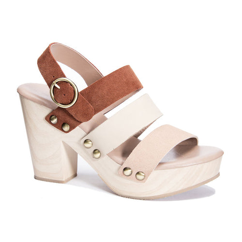Chinese Laundry - Flower Heeled Sandal - Rust/Cream