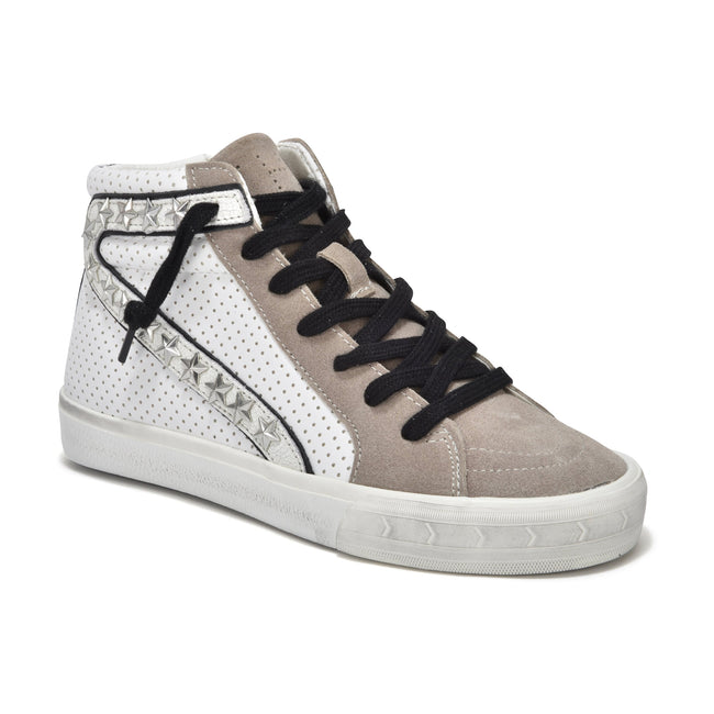 The Gadol High Top Sneakers by Vintage Havana - Taupe