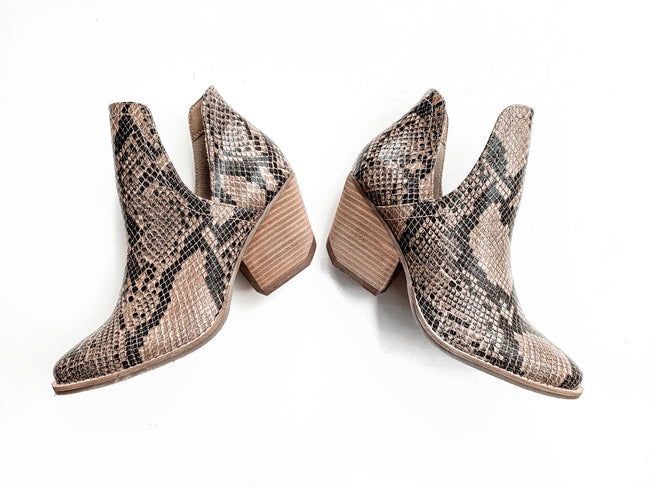 Coconuts by Matisse - Trader - Brown Snake Bootie