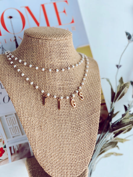Shell In Tassel Necklace - Pink